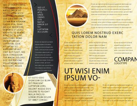 Greek Script Brochure Template Inner Page