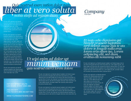 Wave Brochure Template Outer Page