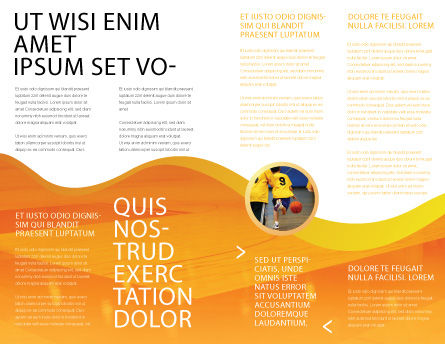 Flaming Basketball Brochure Template, Inner Page, 04054, Sports — PoweredTemplate.com