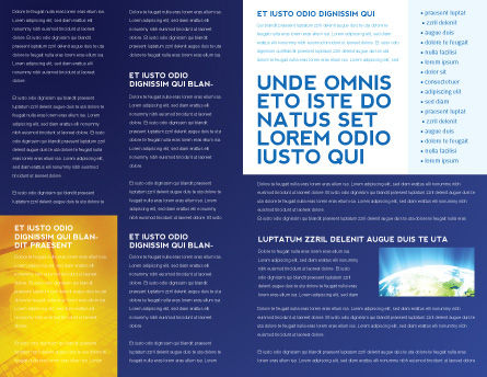 Multifilament Wire Brochure Template, Inner Page, 04055, Telecommunication — PoweredTemplate.com