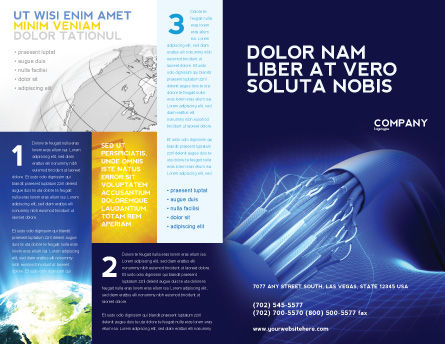 Multifilament Wire Brochure Template, Outer Page, 04055, Telecommunication — PoweredTemplate.com
