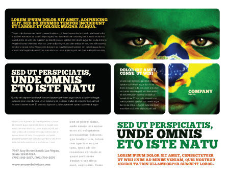 Face Of Brazil Brochure Template Outer Page