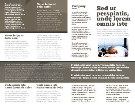 Economic Crisis Brochure Template, Inner Page, 04061, People — PoweredTemplate.com