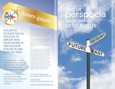 Future Past Brochure Template, Outer Page, 04063, Business Concepts — PoweredTemplate.com