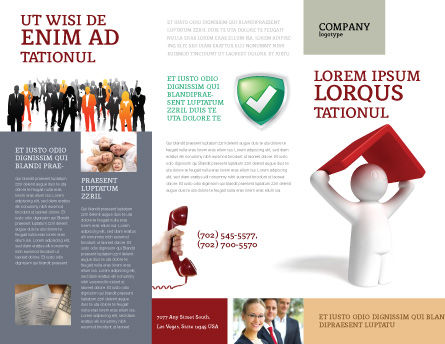 Shelter Brochure Template, Outer Page, 04072, Consulting — PoweredTemplate.com
