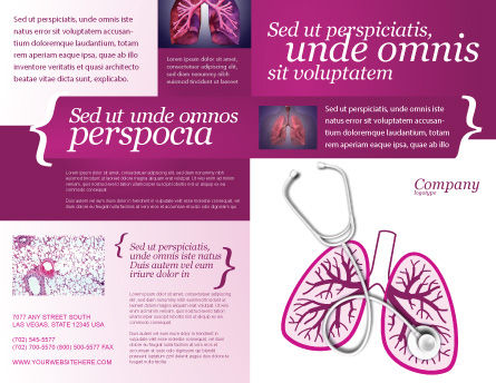 Human Lungs Brochure Template, Outer Page, 04078, Medical — PoweredTemplate.com