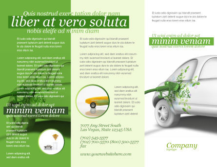 Biogas Brochure Template, Outer Page, 04080, Nature & Environment — PoweredTemplate.com