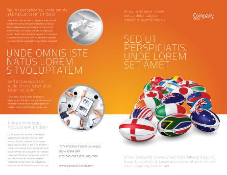 Union of Countries Brochure Template, Outer Page, 04081, Flags/International — PoweredTemplate.com
