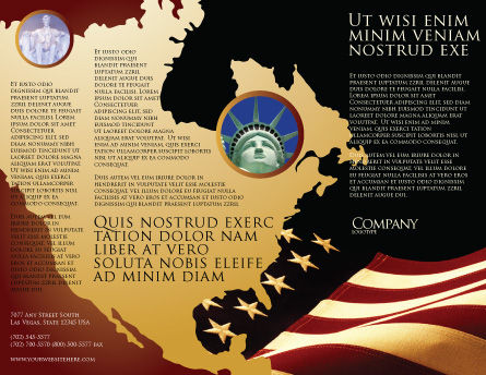 Old Glory USA Flag Brochure Template Outer Page