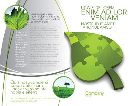 Green Ideas Brochure Template, Outer Page, 04090, Nature & Environment — PoweredTemplate.com