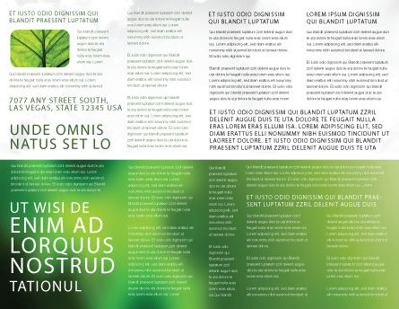 Modern Agriculture Brochure Template, Inner Page, 04097, Nature & Environment — PoweredTemplate.com