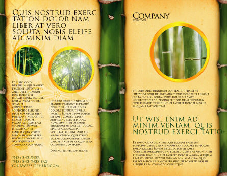 Bamboo Theme Brochure Template, Outer Page, 04107, Abstract/Textures — PoweredTemplate.com