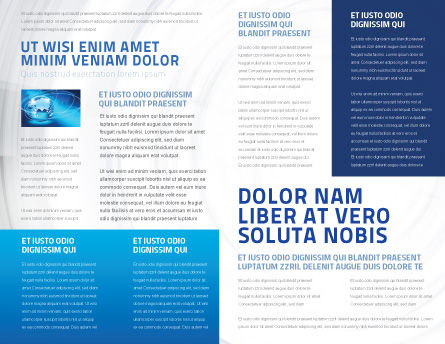 Laptop Data Brochure Template Inner Page