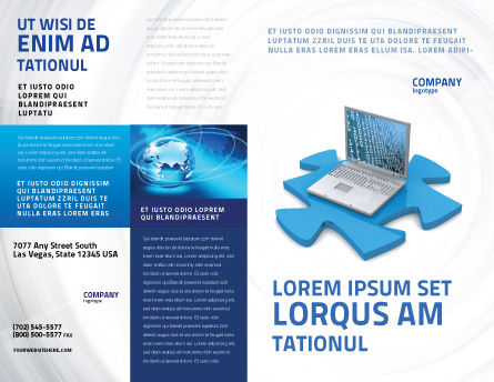 Laptop Data Brochure Template Outer Page