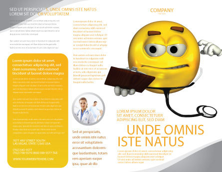 Diagnostics Brochure Template, Outer Page, 04133, Medical — PoweredTemplate.com