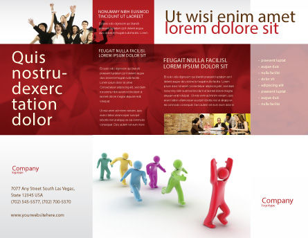 Victory Brochure Template, Outer Page, 04144, Consulting — PoweredTemplate.com