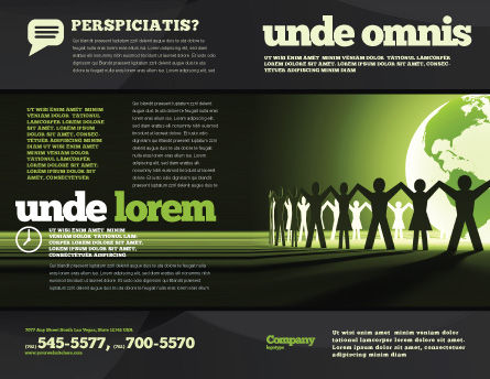 World Unity Brochure Template, Outer Page, 04151, Global — PoweredTemplate.com