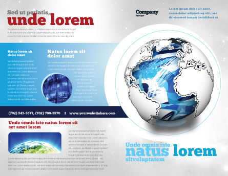 World Turns Brochure Template Outer Page
