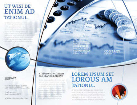 Economy Brochure Template, Outer Page, 04164, Financial/Accounting — PoweredTemplate.com