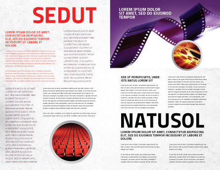 Film Strip In Purple Color Brochure Template, Inner Page, 04168, Careers/Industry — PoweredTemplate.com