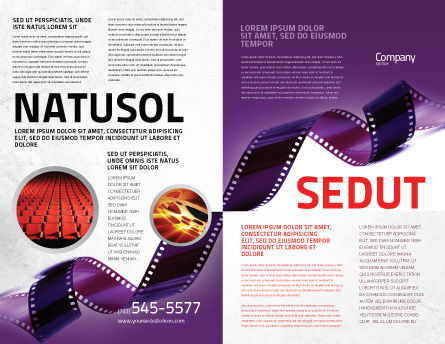 Film Strip In Purple Color Brochure Template Outer Page