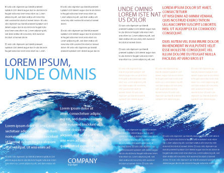 Skis Brochure Template, Inner Page, 04169, Sports — PoweredTemplate.com