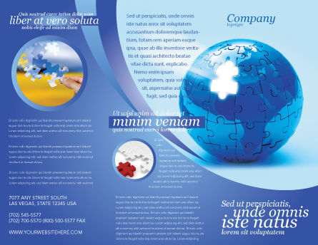 World Reconstruction Brochure Template, Outer Page, 04171, Global — PoweredTemplate.com
