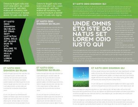 Green Technology Brochure Template, Inner Page, 04173, Technology, Science & Computers — PoweredTemplate.com