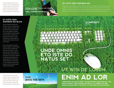 Green Technology Brochure Template, Outer Page, 04173, Technology, Science & Computers — PoweredTemplate.com