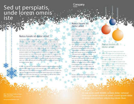 New Year Tree Brochure Template, Inner Page, 04174, Holiday/Special Occasion — PoweredTemplate.com