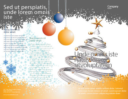 New Year Tree Brochure Template, Outer Page, 04174, Holiday/Special Occasion — PoweredTemplate.com