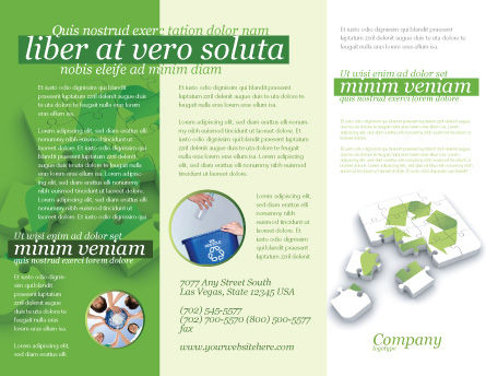 Recycle Technology Brochure Template, Outer Page, 04181, Business Concepts — PoweredTemplate.com