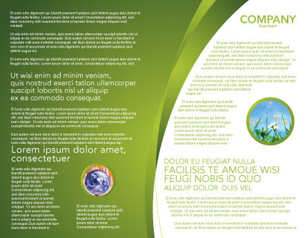 Green Planetoid Brochure Template, Inner Page, 04184, Nature & Environment — PoweredTemplate.com