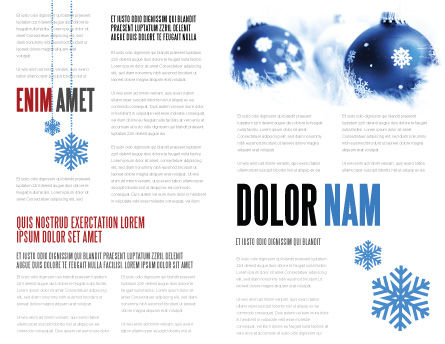 Christmas Decoration Ball Brochure Template Inner Page