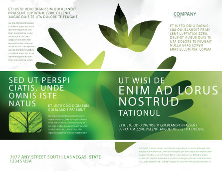 Helping Nature Brochure Template, Outer Page, 04194, Nature & Environment — PoweredTemplate.com