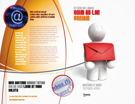 Email Delivery Brochure Template, Outer Page, 04195, Careers/Industry — PoweredTemplate.com