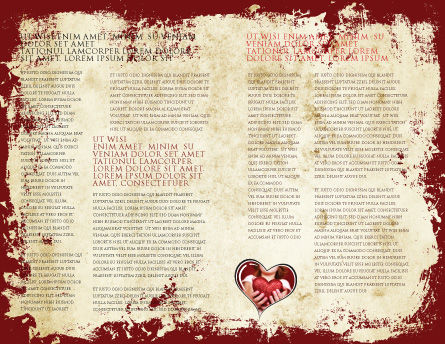 Christmas Love Brochure Template, Inner Page, 04198, Holiday/Special Occasion — PoweredTemplate.com