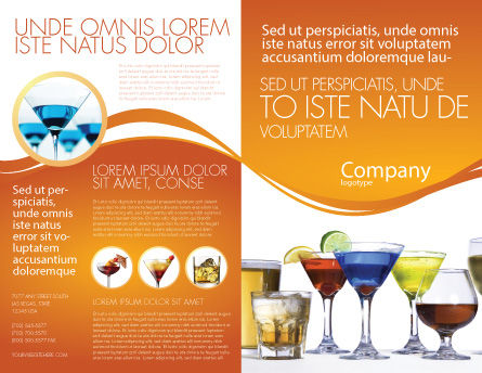 Strong Drinks Brochure Template, Outer Page, 04199, Food & Beverage — PoweredTemplate.com