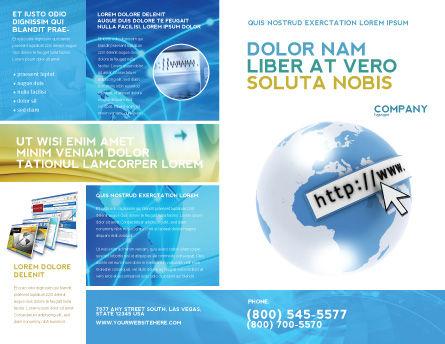 Site Address Brochure Template, Outer Page, 04201, Telecommunication — PoweredTemplate.com