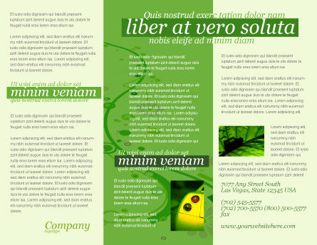 Green Car Brochure Template, Inner Page, 04204, Nature & Environment — PoweredTemplate.com