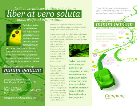 Green Car Brochure Template, Outer Page, 04204, Nature & Environment — PoweredTemplate.com