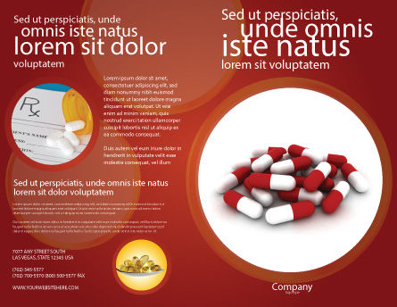 Red White Pills Brochure Template Design And Layout Download Now