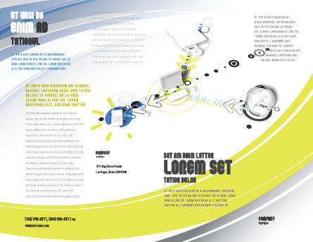 Device Connection Brochure Template, Outer Page, 04209, Technology, Science & Computers — PoweredTemplate.com