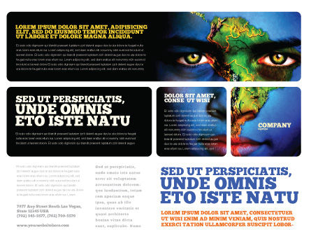 South America Brochure Template, Outer Page, 04210, Global — PoweredTemplate.com