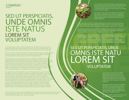 Green House Brochure Template, Inner Page, 04215, Nature & Environment — PoweredTemplate.com