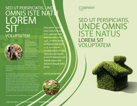 Green House Brochure Template, Outer Page, 04215, Nature & Environment — PoweredTemplate.com