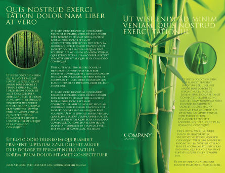 Bamboo Grove Brochure Template, Outer Page, 04227, Nature & Environment — PoweredTemplate.com