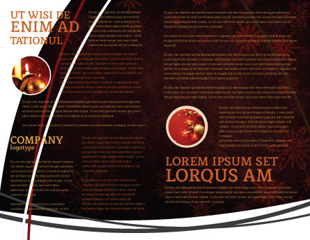 Christmas Bells Brochure Template, Inner Page, 04233, Holiday/Special Occasion — PoweredTemplate.com