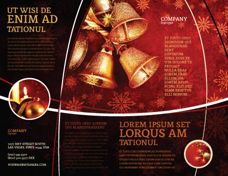 Christmas Bells Brochure Template, Outer Page, 04233, Holiday/Special Occasion — PoweredTemplate.com