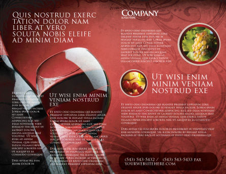 Wine Glass Brochure Template Outer Page